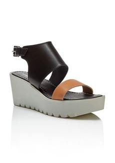 Charles David Apria Lug Sole Platform Wedge Sandals