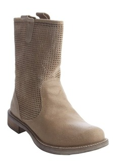Charles David beige perforated suede boots