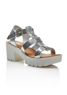 Charles David Bella Metallic Platform Mid Heel Sandals