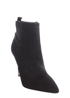Charles David black calf hair 'Gigi' ankle boots