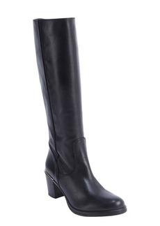 Charles David black leather side zip 'Jacob' boots