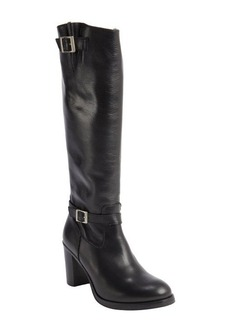 Charles David black leather zip closure 'Jordana' heel boots
