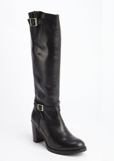 Charles David black leather zip closure 'Jordana' heel boots