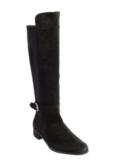 Charles David black suede 'Grato' tall stretch boots