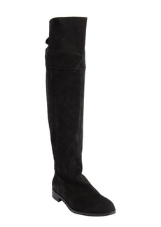 Charles David black suede knee high zip detail...