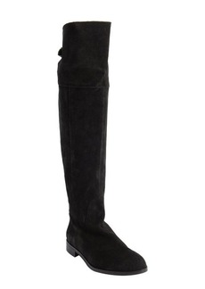 Charles David black suede knee high zip detail 'Rodem' boots