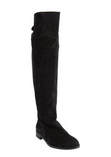 Charles David black suede knee high zip detail 'Rodem' boots