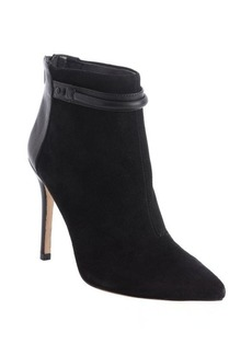 Charles David black suede leather accent 'Gemini' ankle booties
