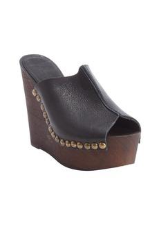 Charles David black suede seam detail open toe wedge 'Recchia' sandals