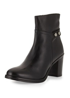 Charles David Blay Stud-Detail Leather Bootie