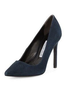 Charles David Caterina Suede Pointed-Toe Pump