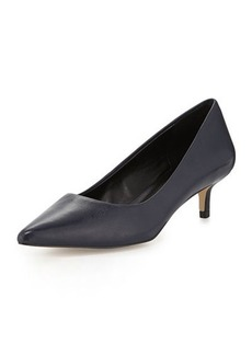 Charles David Damian Leather Low-Heel Pump