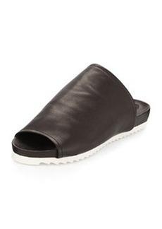 Charles David Dante Leather Slide Sandal, Black