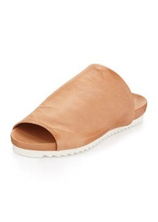 Charles David Dante Leather Slide Sandal, Tan