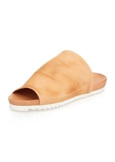 Charles David Dante Open-Toe Leather Slide Sandal