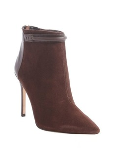 Charles David dark brown suede leather accent 'Gemini' ankle booties