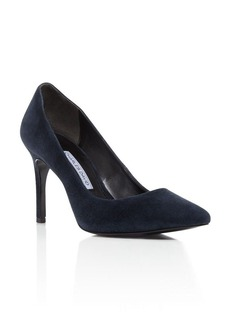 Charles David Donnie Suede Pointed Pumps