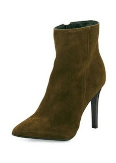 Charles David Dubio Pointy Suede Bootie, Olive