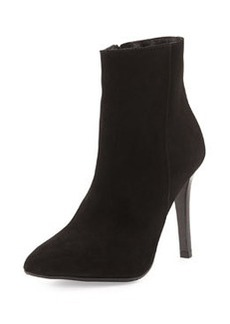 Charles David Dubio Pointy-Toe Suede Ankle Boot, Black