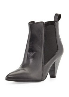 Charles David Felisa Leather High-Heel Bootie, Black