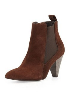 Charles David Felisa Suede Leather High-Heel Bootie, Brown