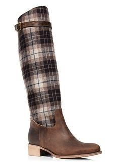 Charles David Gentry Plaid High Shaft Riding Boots