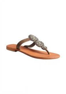 Charles David grey suede crystal embellished 'Uptown' thong sandal