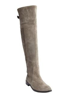 Charles David grey suede knee high zip detail 'Rodem' boots