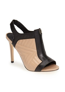 Charles David 'Inverse' Quilted Leather Peep Toe Bootie (Women)