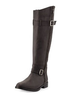Charles David Joley Buckled Knee Boot, Black