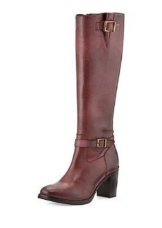 Charles David Jordana Leather Knee Boot, Burgundy
