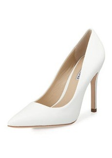 Charles David Katya Pointed-Toe Pump, White