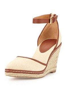 Charles David Keiko Canvas Espadrille Wedge, Sand