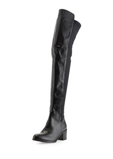 Charles David Leather Pull-On Knee-High Boot