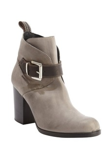 Charles David light grey leather 'Celo' buckle detail ankle boots