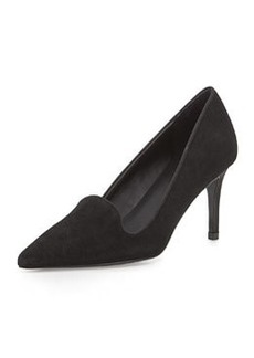 Charles David Luisian Suede High-Heel Pump, Black