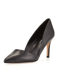 Charles David Lulu V-Cut Leather Pump, Black