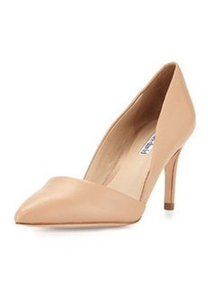 Charles David Lulu V-Cut Leather Pump, Nude