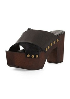 Charles David Mania Strappy Suede/Leather Sandal