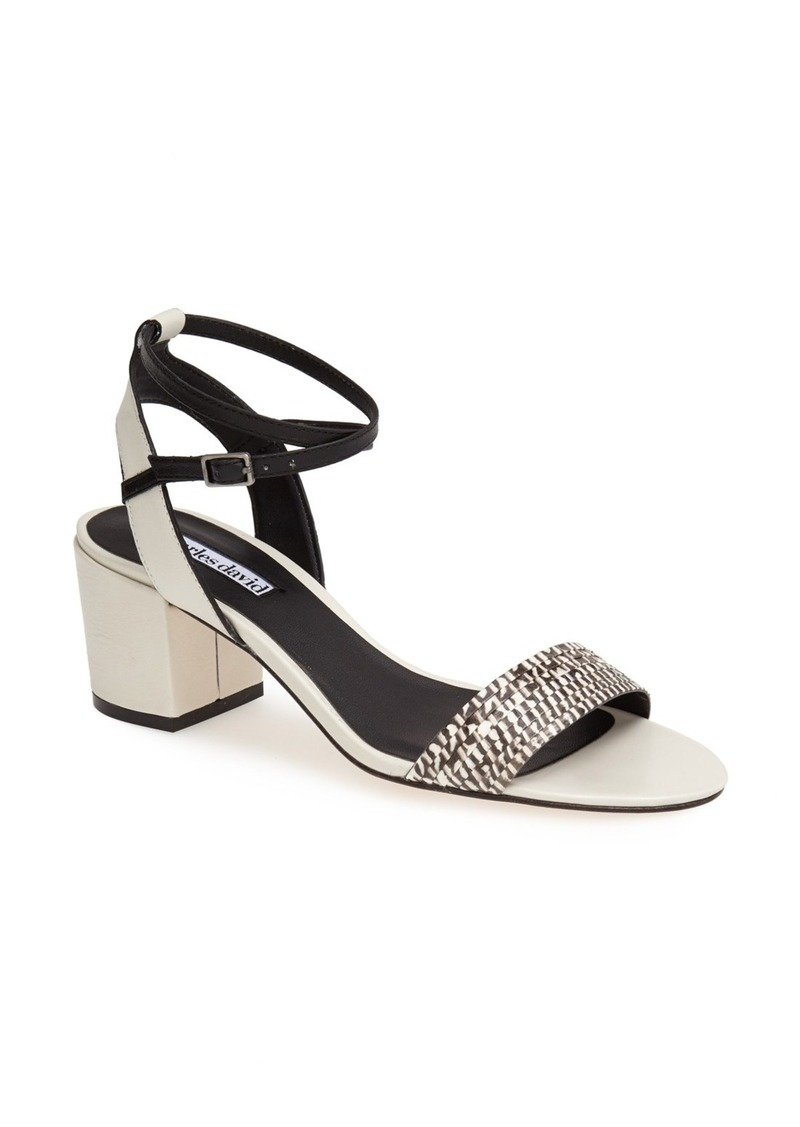 Charles David 'Midas' Genuine Snakeskin & Leather Sandal