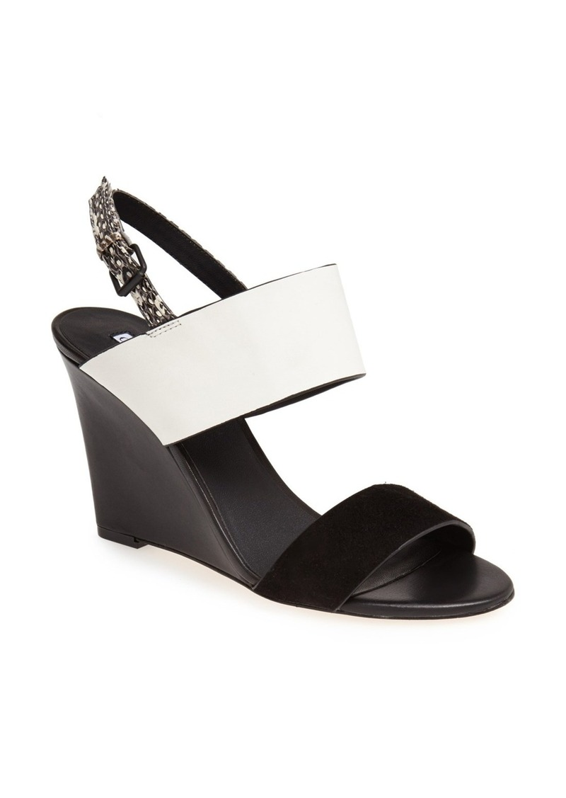 Charles David 'Nominee' Mixed Media Wedge Sandal