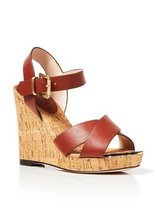 Charles David Open Toe Platform Wedge Sandals - Oliver