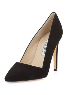 Charles David Passion Suede Classic Point-Toe Pump, Black