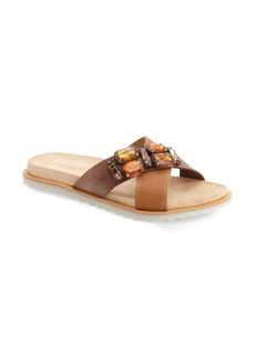 Charles David 'Pella' Crystal Embellished Slide Sandal (Women)