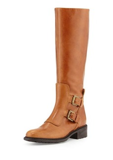 Charles David Perina Buckle Leather Knee Boot