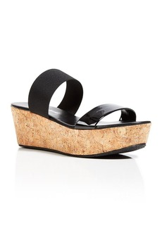 Charles David Platform Slide Wedge Sandals - Flora