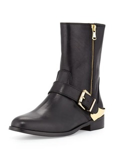 Charles David Reiman Leather Moto Boot