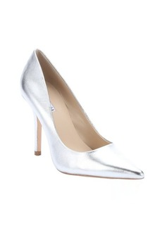 Charles David silver metallic leather 'Sway II' pointed toe pumps