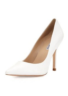 Charles David Swayy II Leather High-Heel Pump, White
