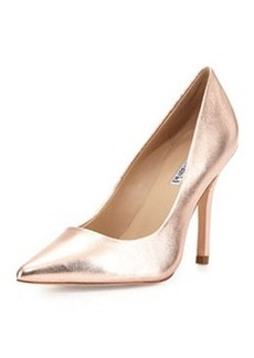 Charles David Swayy II Metallic Leather High-Heel Pump, Rose Gold
